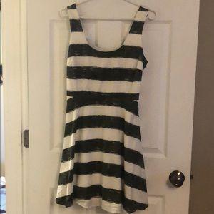 Cute BB Dakota green and white striped dress.